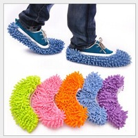 2014 Creative Mopping Shoes Sleeve Lazy Cleaning Slippers Mop Head set Free Shipping