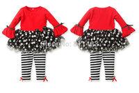 C020  2014 New Children Girls Red suit dress + pants 2pcs sets children's clothing strap  set girls