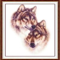 "Wall Home Decoration Cross Stitch ""Wolf "" Cross-Stitch Kit , DIY Cross Stitch Sets,Embroidery Ki t"