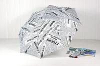 Novelty Items Newspaper Umbrellas Folding creative UV protection Sun umbrella 3 Color English umbrella Free Shipping ys007
