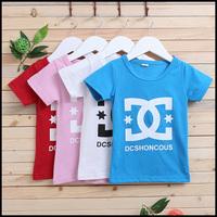 2014 2-colors princess t-shirts for children girls children's wear shorts t shirt for boy 10-004