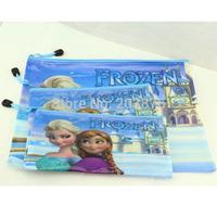 Frozen BLUE file pocket PVC Students' documents pouch storage bag Pencil bag pouch Gift
