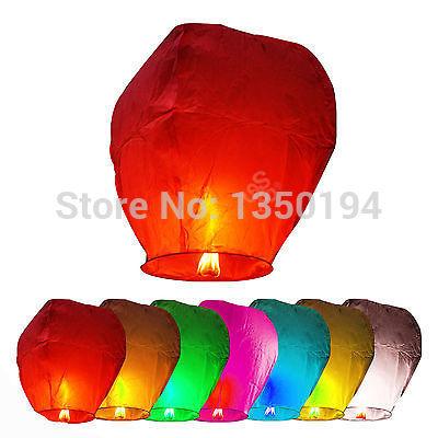 10Pcs Chinese KongMing Wishing Sky Flying Lanterns Fire Light Lamp Wedding Party(China (Mainland))