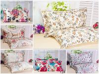 Free shipping one side 100% mulbery silk pillowcase print fabric silk pillow sham pillow cover pillow case