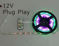 Easy Plug Play Waterproof IP65 Digital Dream Color LED Strip Kit with RF Remote