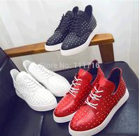 Free shipping ! Wholesale! The new 2014 rivet source women flat shoes, sneakers, fashion women sport shoes