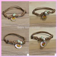 Newly Traditional Fan art Binglie Small Fresh Tiles Bracelet Female Korean Ceramic Jewelry National Wind