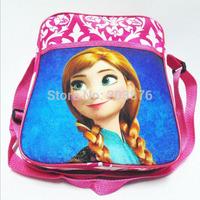Frozen 23CM Girls Messenger bag Cross body bag Zipper cartoon children shoulder bag Gift