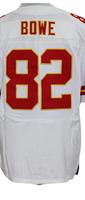 Cheap Free Shipping American Kansas City Football #82 Dwayne Bowe Jersey White, Red Stitched Logo Elite