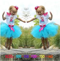 Wholesale Cheap Girls Frozen Dress Elsa Princess dresses 5 Pcs/lot, Frozen Dress Kids 2014 New tutu dress