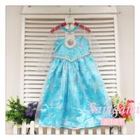 5pcs/lot, New 2014 Frozen Elsa dress Girl Princess Dress Summer long sleeve Elsa Costume,baby & kids Elegant dresses