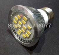 Cheap e27 led warm white 16 led e27 lamp SMD 5630 6W 220V 420 lumen for led lights for home Free shipping