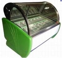 Tecumseh compressor 12pans ice cream display showcase