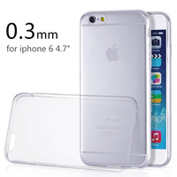 """2014 New Style Ultra Thin Crystal Clear TPU Silicone Soft Cover for Apple iPhone 6 4.7"""" Transparent Case for iPhone 6 Case"""