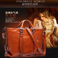 Retro fashion leather handbag Four color to choose high-grade leather handbag single  inclined shoulder bag