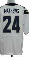 Cheap Free Shipping American San Diego Football #24 Ryan Mathews Jersey White, Blue Stitched Logo Elite