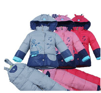 90% white duck down  Cartoon Children Thick Down Jacket Boys And Girls Children's winter Baby Suit