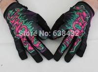 Free shipping 2014 hot sale Full Finger Mechanix Wear MPact Tactical Coyote Race Work Gloves eyeball print gloves