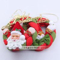 Free shipping 2PCS christmas santa Wreath / Indoor Christmas Decoration