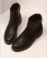 Free shipping ! Wholesale! 2014 new zipper on both sides of fashionable women Martin boots, women fashion  leather ankle boots