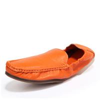 New Designer Casual Men Loafers Shoes Men's Leather Loafers For Driving Moccasin Size 39 - 44 (Black, Dark Blue, Orange, White)