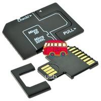 FREE SHIPPING 1pcs ,MicroSD/TF to SD USB Flash U Disk Adapter USB Card reader Adapter