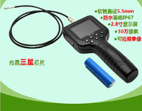 Special offer hd 2.8 -inch 5.5 mm photos video industrial endoscope pipe auto repair waterproof sight glass
