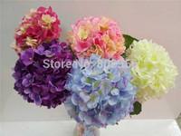 Best-Selling Hydrangeas 24Pcs Dia. 20cm Long 80cm Artificial Hydrangea Macrophylla Flower for Wedding Party Decoration Flowers