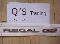 GENUINE PARTS REGAL GS car Sticker New Emblem Badge Turbo Chrome TUNING lacrosse Encore Corsa Zafira Astra [Emblems][Q'S] 07097