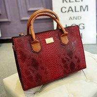 New Personalized Snake Skin Women Handbag PU Leather Shoulder Bag Women's Tote Designer Casual Bag Bolsas WJ1061