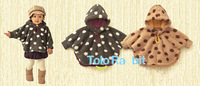 Free shipping England style Baby Cloak Two-sided wear 2  color Baby cape High quality infant baby outerwear