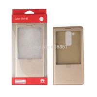 100% Original Huawei Ascend Mate 7 Flip Cover Case For Huawei Ascend Mate 7 Mobile Phone Cover Case  + Screen Protector