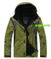 2014 Waterproof Windproof Winter men 2in1 Jacket For Sportswear Hiking Ski Outdoor Jacket Jackets fleece outdoor down jacket