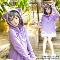 New Henneko Hentai Ouji to Warawanai Neko Tsutsukakushi tsukiko Catgirl Cosplay Sweater Dress Free Shipping