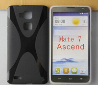 New Products For Huawei Ascend Mate 7 Cover Rubber Case X Line TPU Free Shipping  DHL