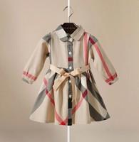 2014 British style Hitz Girls princess dress baby dress children flounced cotton free shipping