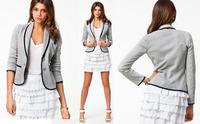 2014 Fall Autumn Winter Women Jacket Mini Coat Clothing Office Dress Crop Top