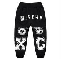 #5672 kids garment children clothing boys/girls terry causal sports pencil pants capris
