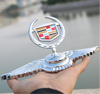 Car Accessory Fly Eagle Shape Metal free shipping Factory  Wholesale For Cadillac