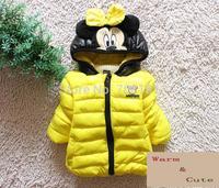 New 2014 christmas  Children's Coats  Jackets Baby Outerwear Kids Down Cartoon Mickey Children boy Outerwear Kids Jackets Coats