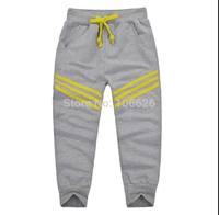 #5671 wholesale children clothing kids garment boys/girls terry drawstring causal sports pants capris