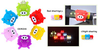 Wholesale 300pcs New Cute Pig Silicone Bicycle Rear Light 2LED Bike Front Light Tail Light Warning Light Cycling Accessories