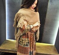 Free Shipping!2014 New!Thick Scarf Fringed Triangular Shawl knitted Warm Scarf Female Shawl Long Scarf ,S157