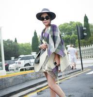 Free Shipping!2014 New! Fashion Classic Retro Original Plaid Tassels  Imitation Cashmere Long Women Scarf Shawl,  M103