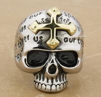 Men gothic inscriptions titanium steel ring