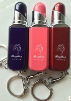 Wholesale 20pcs/lot   Lipstick shape with keychain gas lighter flame 637