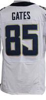 Cheap Free Shipping American San Diego Football #85 Antonio Gates Jersey White, Red, Black Stitched Logo Elite