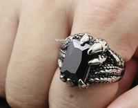 L black male African zircon titanium steel ring