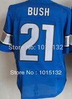 Cheap Free Shipping American Detroit Football #21 Reggie Bush Jersey Blue Stitched Logo Elite