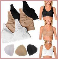 3Pcs/lot LADIES BRA BODY SHAPER ,SHEAR SPORTS bra with Removable Pads Genie Bra